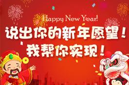 说出你的新年愿望,我帮你实现!